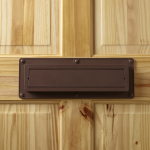 Brown Ecoflap on a timber door
